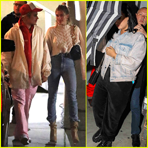 Justin & Hailey Bieber Join Demi Lovato for Evening Church Service