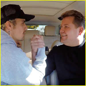 Justin Bieber Arm Wrestles James Corden During 'Carpool Karaoke' Appearance