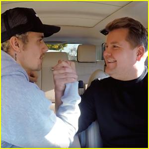 Justin Bieber Arm Wrestles James Corden During 'Carpool Karaoke' Appearance