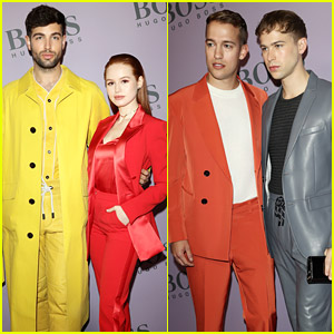 Madelaine Petsch Surrounds Herself With Friends at Boss Fashion Show In Milan