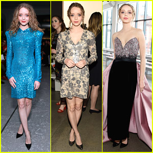 Madeleine Arthur Goes Chic While Attending New York Fashion Week Shows