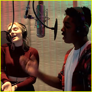 Meg Donnelly & Issac Ryan Brown Perform Theme Song For New Show 'Disney Fam Jam'