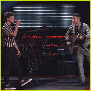 Nick Jonas Performs Ed Sheeran 'Perfect' Duet With 'The Voice' Contestant Tate Brusa