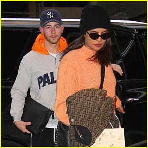 Nick Jonas & Priyanka Chopra Coordinate Their Orange Looks Out in NYC