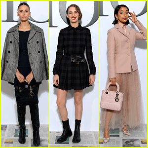 Nina Dobrev, Maya Hawke & Liza Koshy Attend Dior Paris Fashion Show