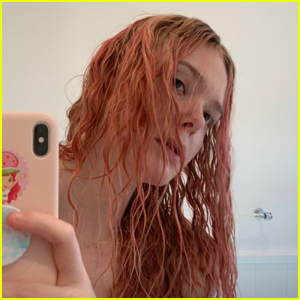 Elle Fanning Dyes Her Hair Pink!