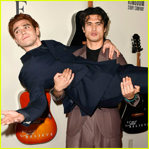 KJ Apa Gets a Lift from Charles Melton at 'I Still Believe' Premiere!