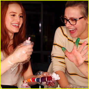 Madelaine Petsch & Lili Reinhart Make Tie-Dye Outfits for Their Dogs in 'Quarantine Crafts' Video