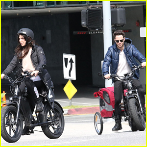 Sasha Farber & Emma Slater Get Some Exercise With Bike Ride During Health Crisis