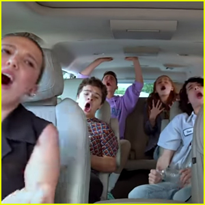 'Stranger Things' Kids Belt Out Songs Through the Decades for 'Carpool Karaoke' (Video)