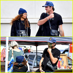 Zendaya Snaps Silly Photos of Jacob Elordi During a Flea Market Date