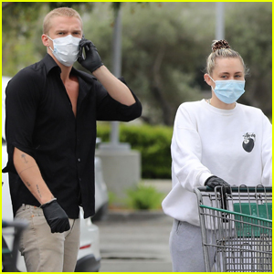 Miley Cyrus & Cody Simpson Stay Safe While Grocery Shopping