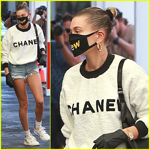Hailey Bieber Rocks Ripped Jean Shorts To Doctor Appointment in LA