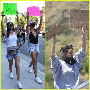 Victoria Justice & Sister Madison Grace Join Protests In Los Angeles