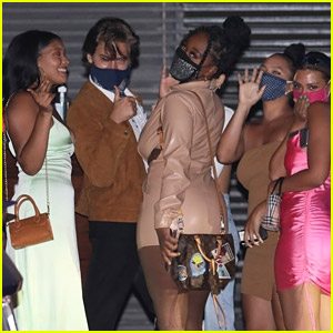 Cole Sprouse Playfully Poses for Pics While Leaving Dinner with Friends