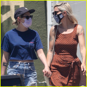 Kristen Stewart Holds Hands with Girlfriend Dylan Meyer During Afternoon Outing