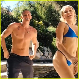 Miley Cyrus & Cody Simpson Show Off Their Dance Moves In New TikTok Video!