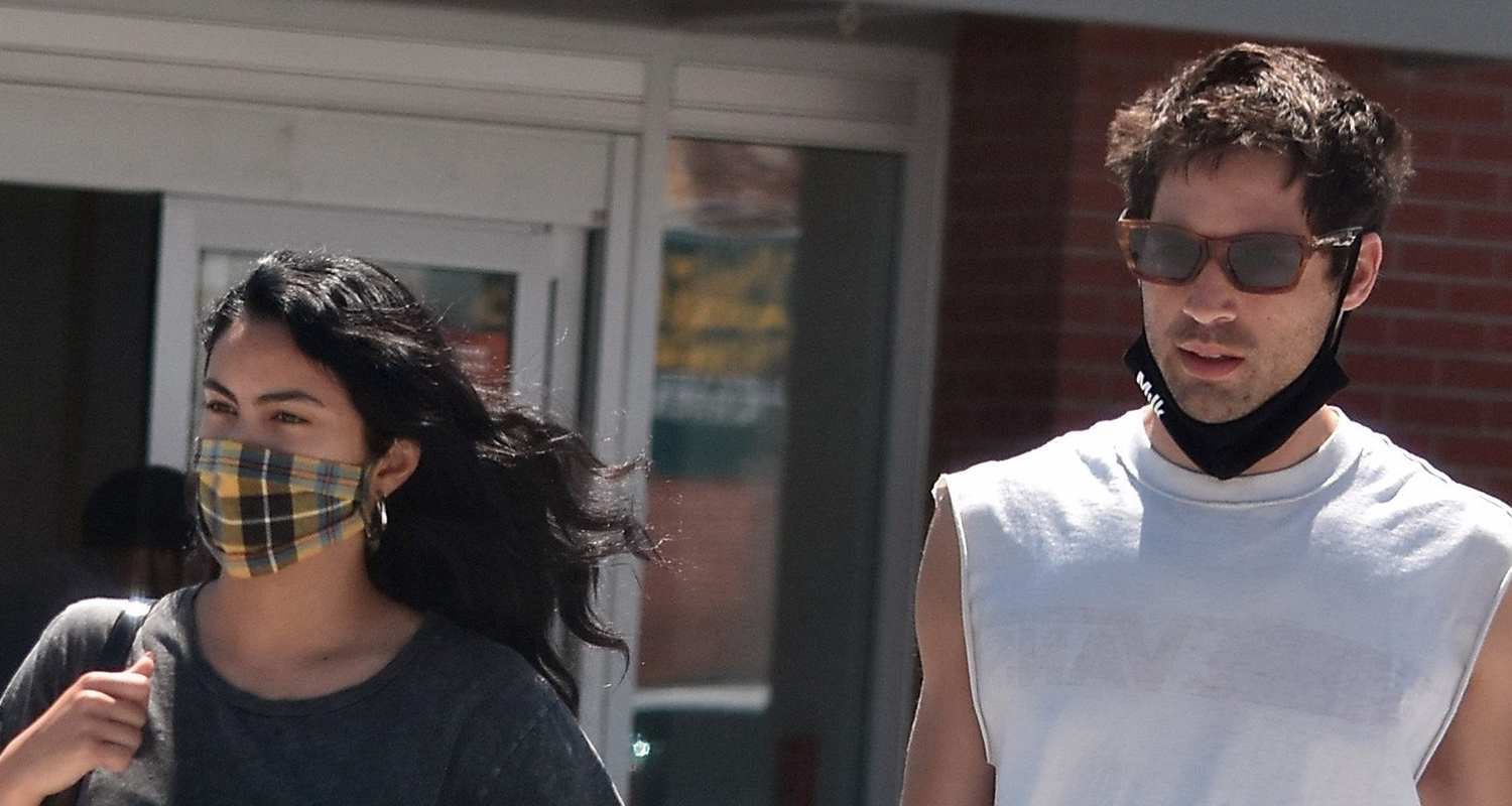 Camila Mendes & Grayson Vaughan Pick Up Goodies For Her Pup Truffle