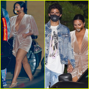Demi Lovato Steps Out for Dinner with Fiance Max Ehrich in Malibu