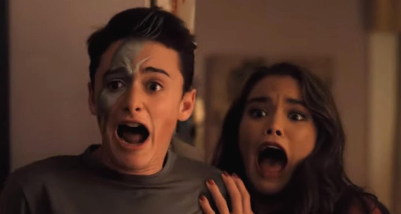 Adam Sandler Scares Noah Schnapp Paris Berelc In New Hubie Halloween Clip Halloween Karan Brar Movies Netflix Noah Schnapp Paris Berelc Just Jared Jr