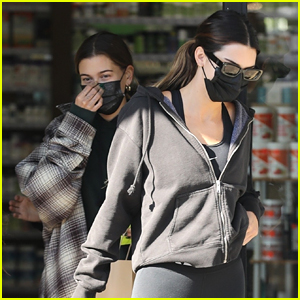 Hailey Bieber & Kendall Jenner Hang Out After a Workout Class in LA
