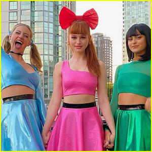 'Riverdale' Ladies Dress as 'Powerpuff Girls' for Halloween!