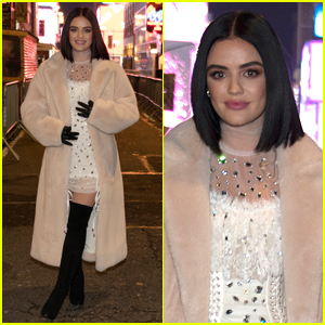 Lucy Hale Kicks Off New Year's Rockin' Eve In Sparkly, White Outfit