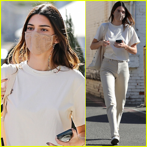 Kendall Jenner Pairs Her Face Mask With Her Outfit While Out in Beverly Hills