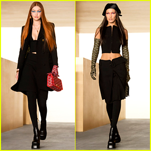 Gigi Hadid Changes Up Her Look For Runway Return at Versace Fashion Show