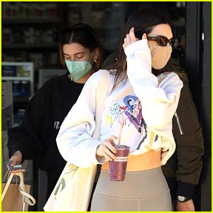 Kendall Jenner Kicks Off Her Weekend with Hailey Bieber