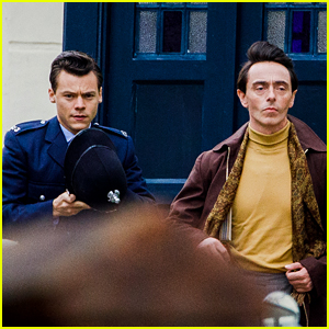 Harry Styles Wears Full Policeman Uniform in New Set Photos with David Dawson!