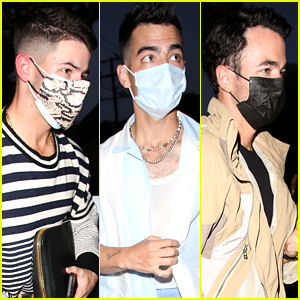 The Jonas Brothers Mask Up For Family Dinner Out With Sophie Turner