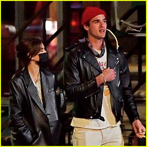 Jacob Elordi & Kaia Gerber Go On A Late Night Walk Together