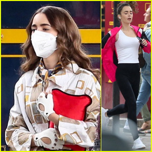 Lily Collins Goes for a Run While Filming 'Emily in Paris' Season 2