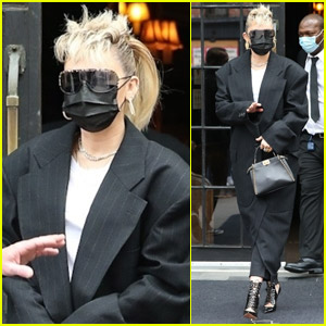 Miley Cyrus Sports Edgy Look While Heading to 'SNL' Rehearsals!