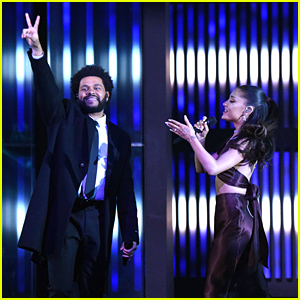 Newlywed Ariana Grande Performs 'Save Your Tears' With The Weeknd at iHeartRadio Music Awards 2021