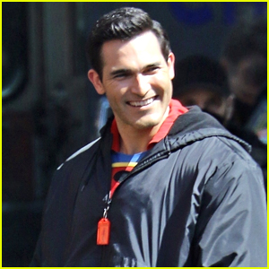 You've Gotta See Tyler Hoechlin's Throwback Suit on the Set of 'Superman & Lois'