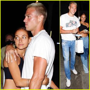 Inanna Sarkis & Boyfriend Matthew Noszka Show Some PDA After Grabbing Dinner