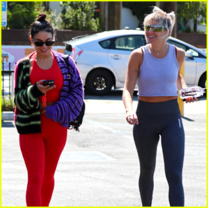 Vanessa Hudgens Rocks Vibrant Workout Outfit After Launching New Skincare Line