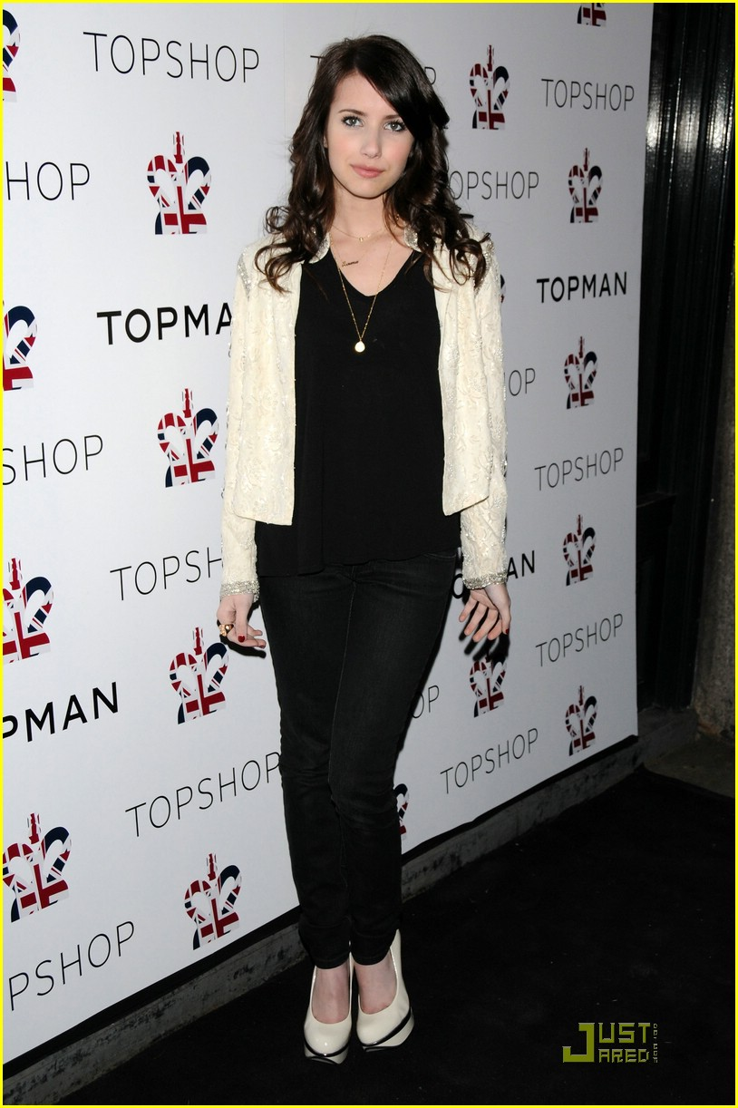 emma roberts topshop opening 02
