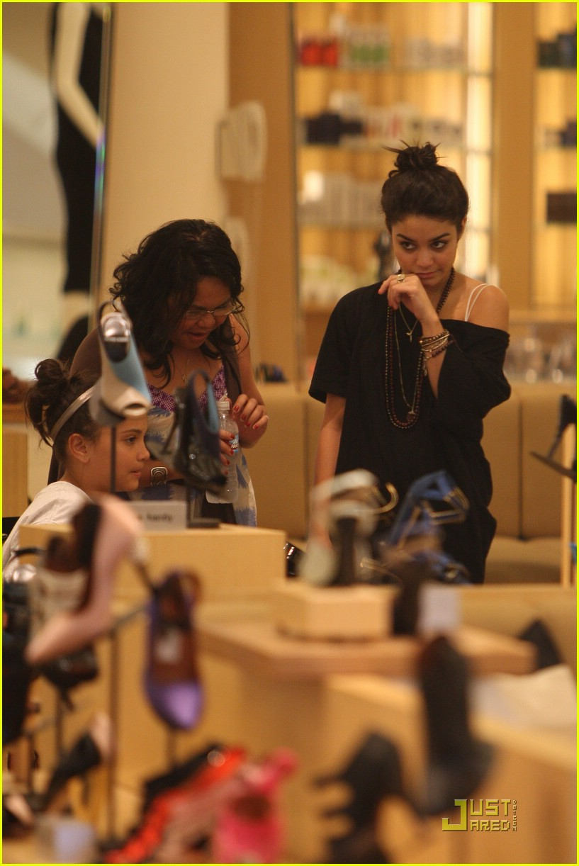 vanessa hudgens shoe shopping barneys 05