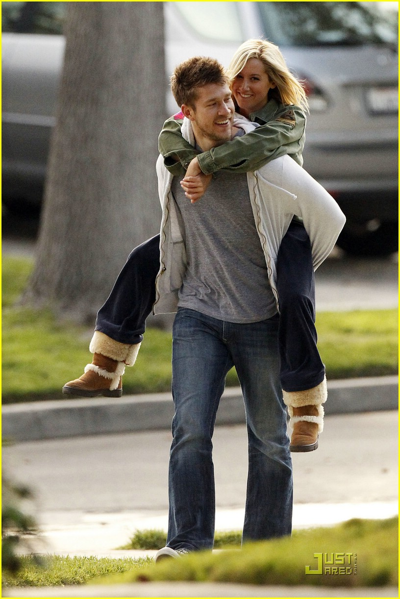ashley tisdale scott speer piggyback 08