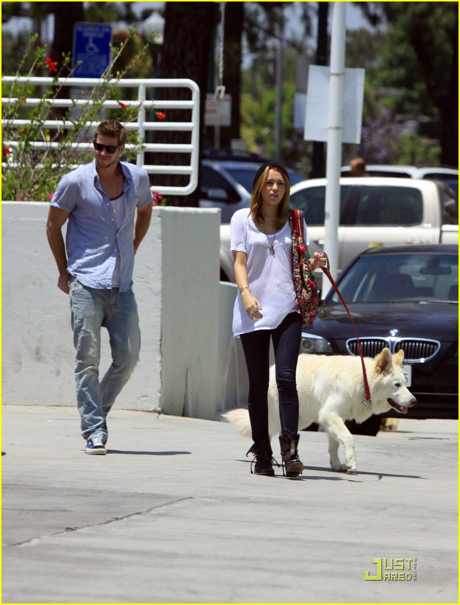 miley cyrus liam hemsworth petco 08