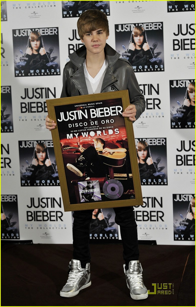 justin bieber madrid gold record 24