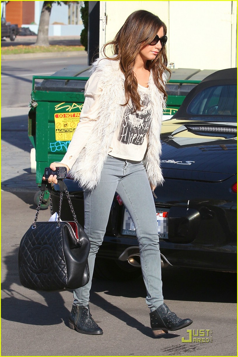 ashley tisdale fuzzy vest 17