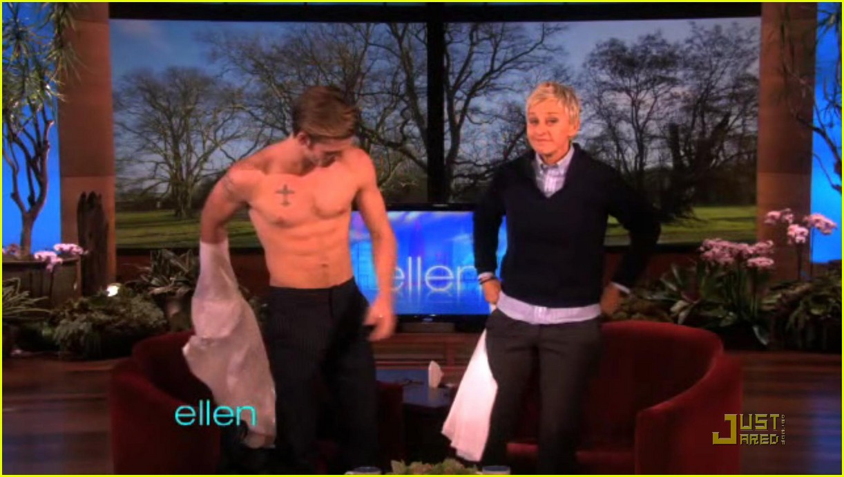 alex pettyfer loses his shirt for ellen 04