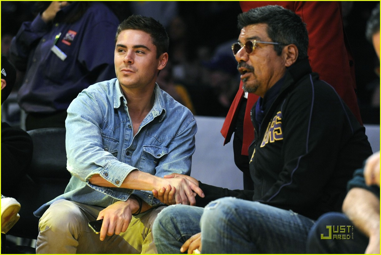 zac efron lakers george lopez 11