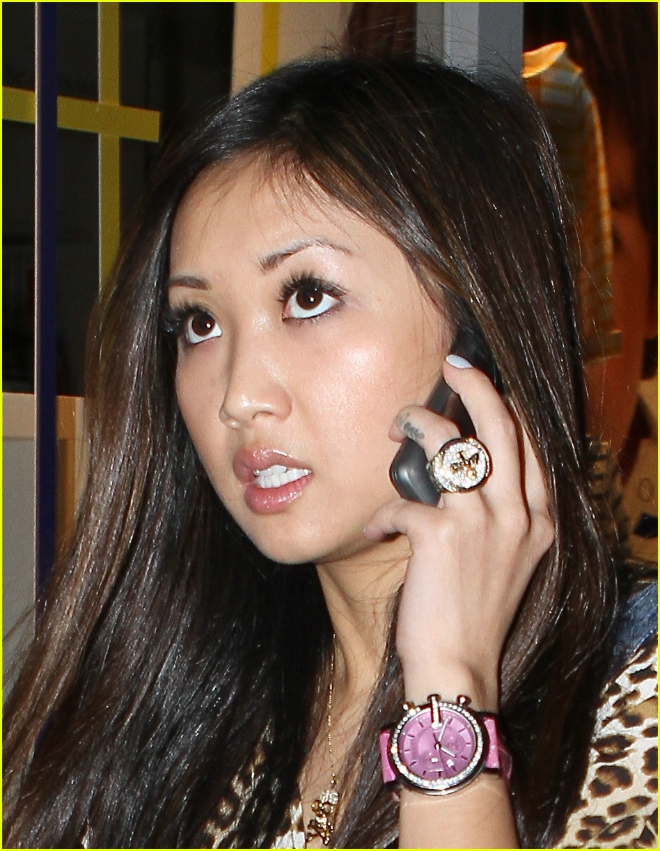 brenda song cheetah coat 07