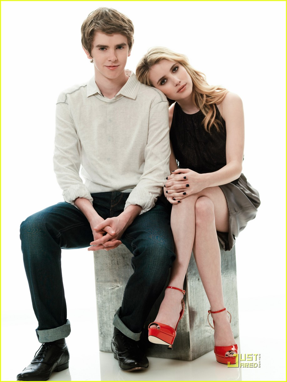 emma roberts freddie highmore shoot 01