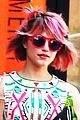 Agron-pinkhair dianna agron pink hair 05